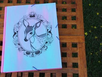 DIY Custom folder using Image transfer medium ~ Carpeta personalizada con transferencia de tinta