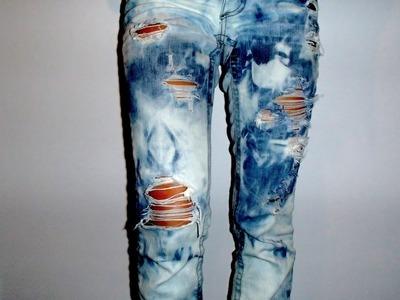 DIY Easy Acid Wash Jeans