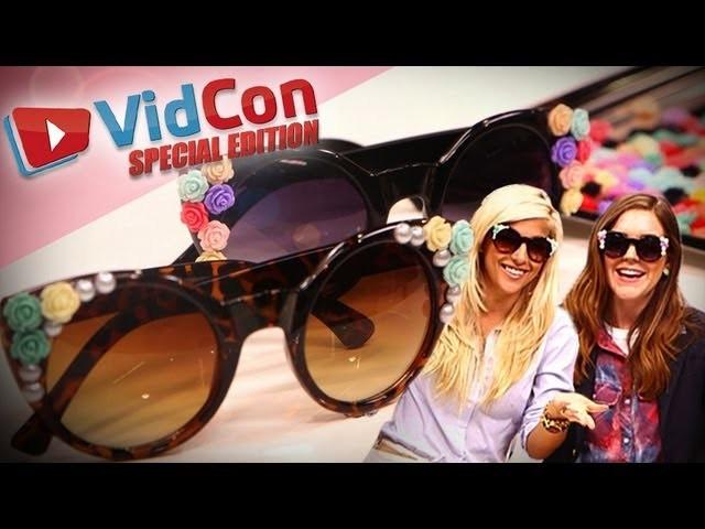 DIY Embellished Sunglasses with Evelina Barry   Designer DIY LIVE from VidCon