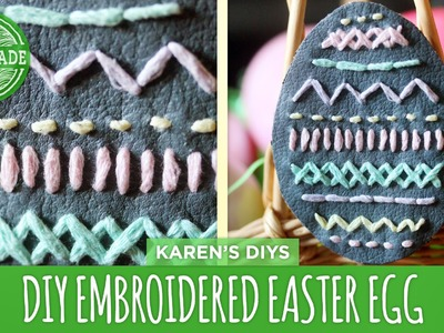DIY Embroidered Leather Easter Egg - HGTV Handmade