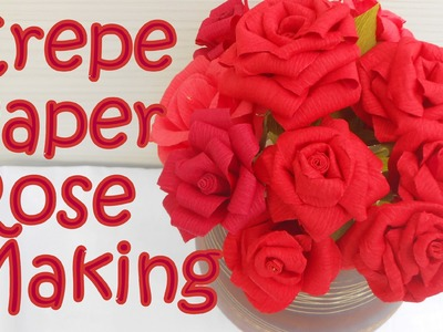 DIY: How to make Crepe paper Rose Flower