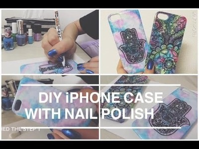 DIY iPhone case with nail polish