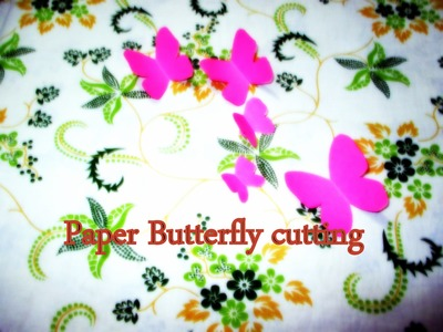DIY Paper Crafts ✿ ✿ How to make a paper Butterfly for WALL Decoration ✿