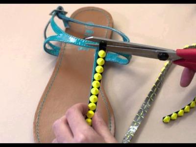 DIY Summer Shoes Part 4: The Studded Sandal - Mjtrim.com