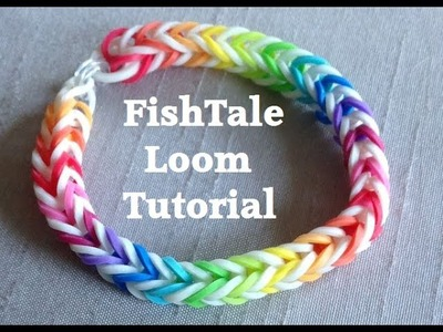 EASY FISHTAIL Loom Bracelet Tutorial Rainbow Loom l JasmineStarler