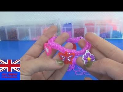 Easy Tutorial Rainbow Loom Charms Bracelet - How To Make A Loom Bands Bracelet?