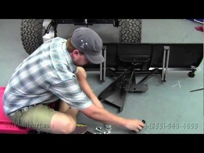EZGO TXT Snow Plow   How To Install Video   Installing a Golf Cart Snow Plow