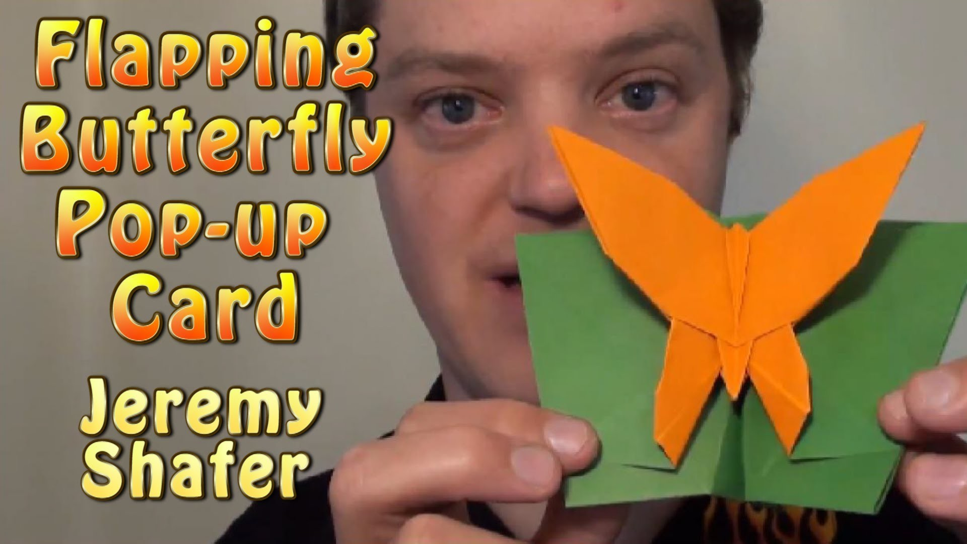 Flapping Butterfly Pop-up Card by Jeremy Shafer