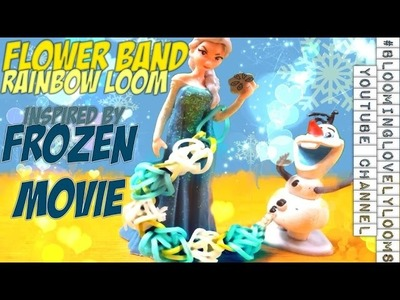 Flower Band Rainbow Loom Inspired by Disney's Frozen Movie