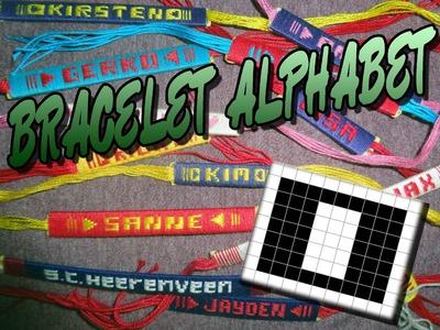 Friendship Bracelet Crochet Yarn, Alphabet: Letter O