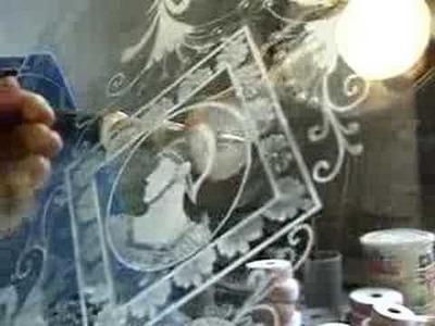 Glass cutting in a Venetian workshop on Murano island