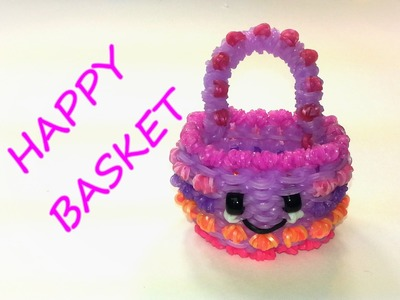 Happy Basket Tutorial by feelinspiffy (Rainbow Loom)