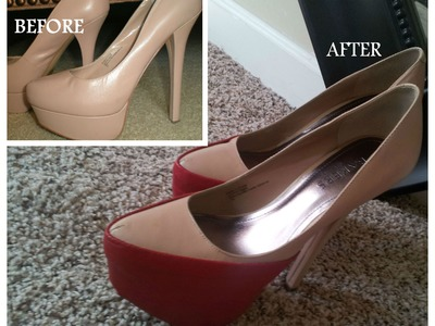 How to change your Shoes up or give them Makeover DIY