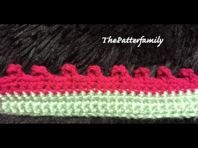 How to Crochet the Edge. Border. Trim Stitch Pattern #25 │ by ThePatterfamily