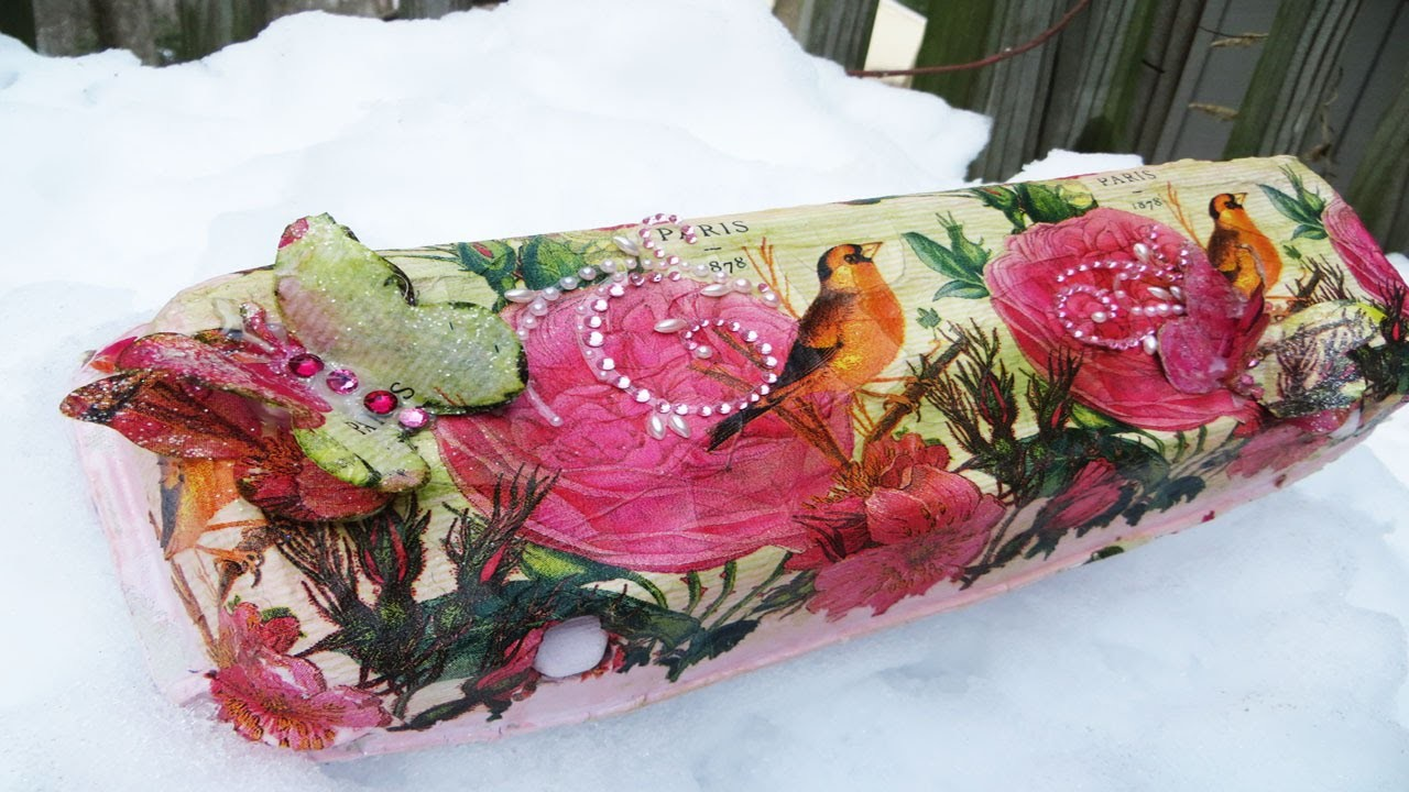 How to Decoupage an egg carton Upcycle!