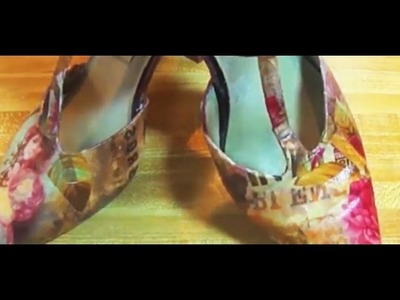 How to decoupage Shoes leather or pleather
