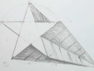 How to Draw a 3D Star Shape - Draw a Star in One-point Perspective
