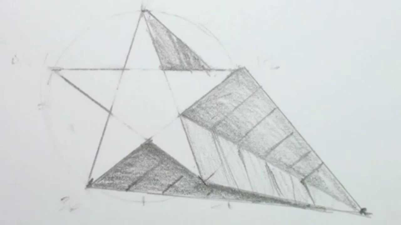 How To Draw A 3d Star Shape Draw A Star In One Point