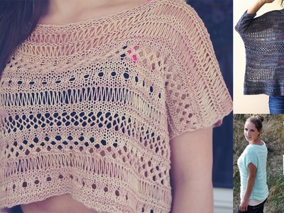 HOW TO KNIT EASY LACE TOP- VIDEO TUTORIAL