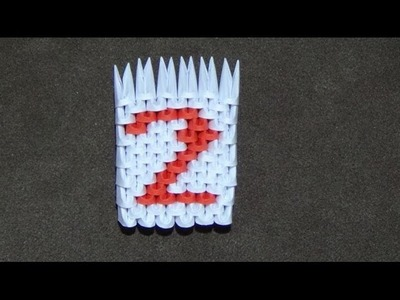 How To Make a 3D Origami Number 2