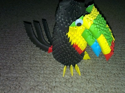 How To Make A 3D Origami Toucan