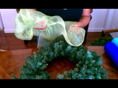 "How To Make A Deco Mesh Wreath ""Part 1"""