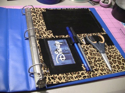 How to make a Duct tape binder pocket page!