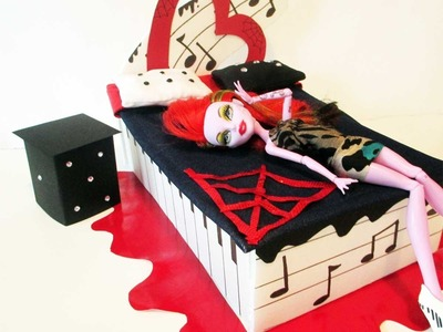 How to make a Operetta Doll Bed Tutorial. Monster High