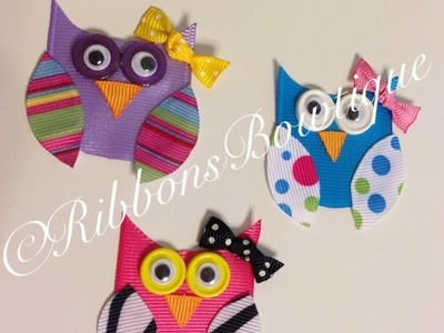 "HOW TO: Make a ""Owl"" Hair Clip (Part-1)"