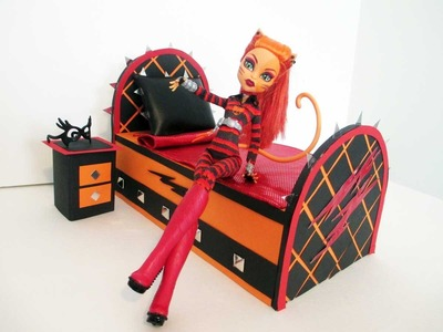 How to make a Toralei Stripe Doll Bed Tutorial. Monster High