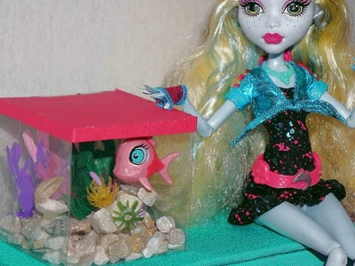 How to make an aquarium for dolls Monster High, Barbie, etc