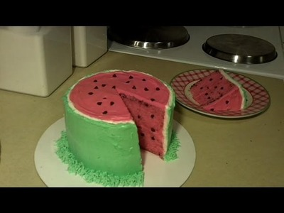 How to Make and Decorate a Watermelon Cake