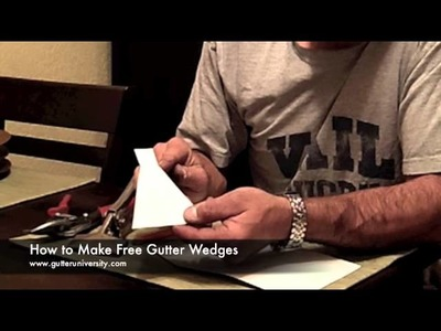 How to Make and Install Gutter Wedges