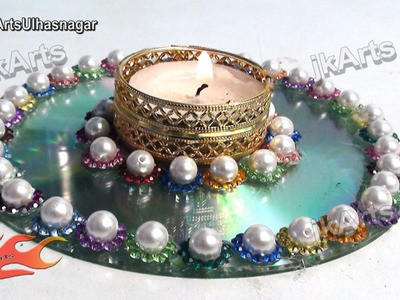 How To: make Candle Holder - Best Out of Waste from DVD - JK Arts 530