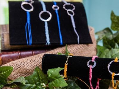 How to Make Modern Bohemian Macramé Bracelets
