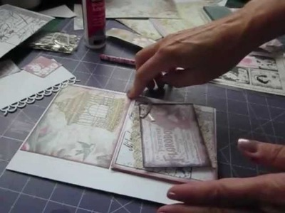 How to make the flap pocket page - Vintage album