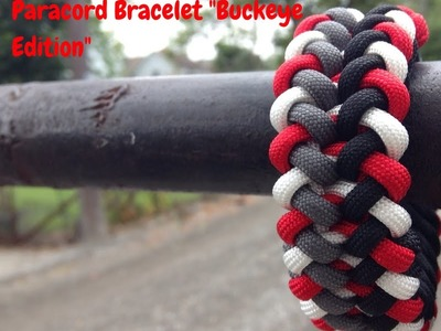"How To Make The :Sanctified"" Paracord Pattern Bracelet "" Buckeye Edition"""