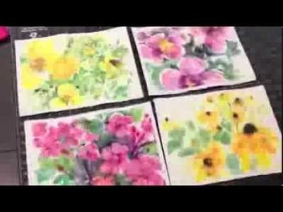 How to paint batik style watercolor