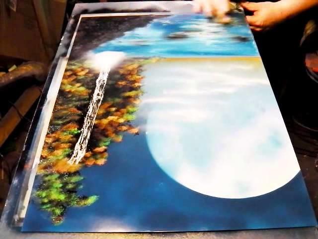 How to Spray Paint Art - Tropical Paradise