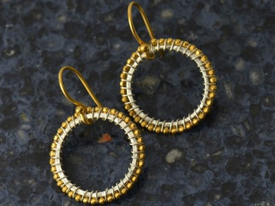 Jewelry How To - Make Sunburst Earrings