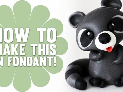 Learn how to Make a Cute Fondant Raccoon - Cake Decorating Tutorials