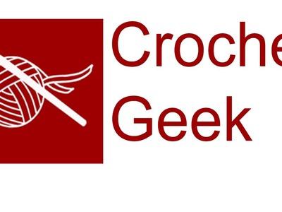 Left Hand Ripple Double Crochet Chevron - Zig Zag Crochet Geek