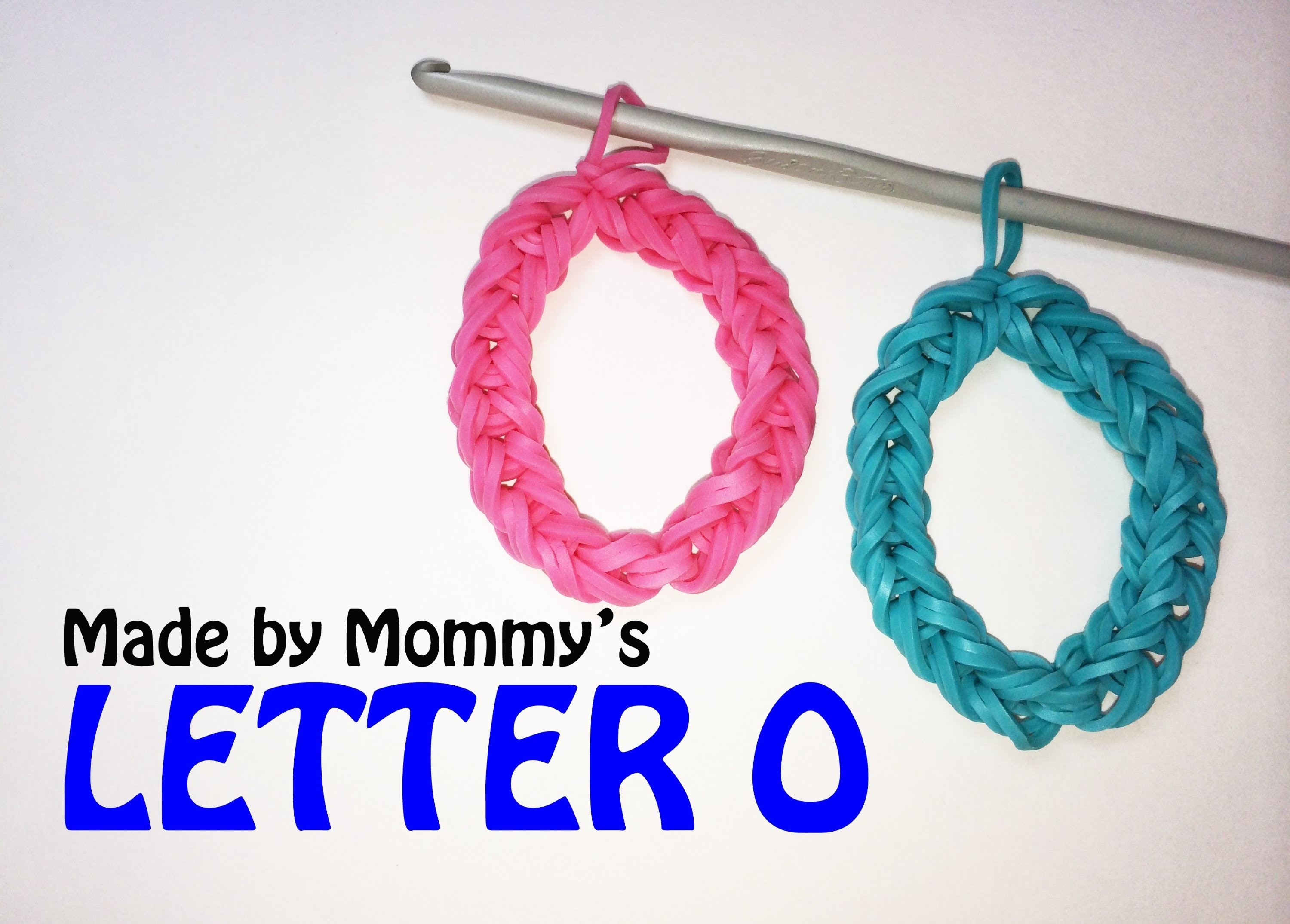 Letter O or Number Zero 0 Charm Without the Rainbow Loom
