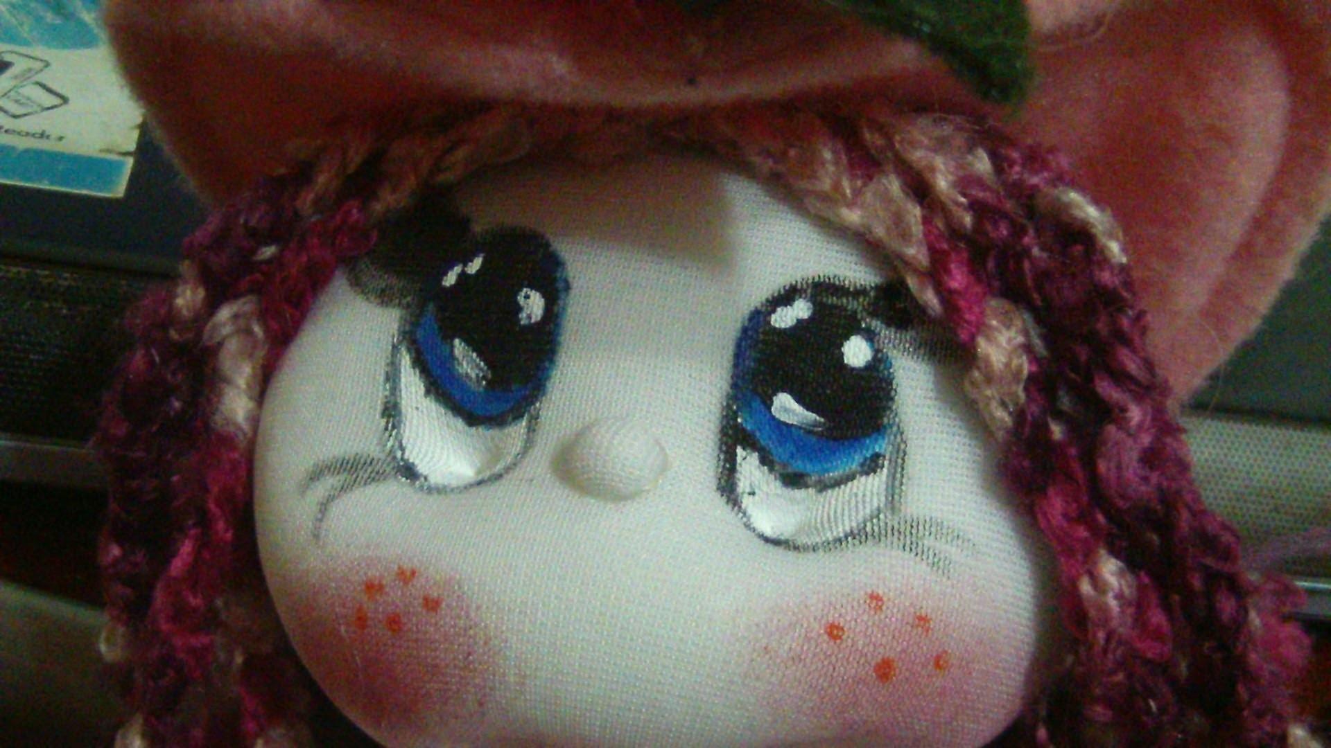 Muñecos soft. como pintar ojos faciles.how to paint eyes easily. proyecto 183