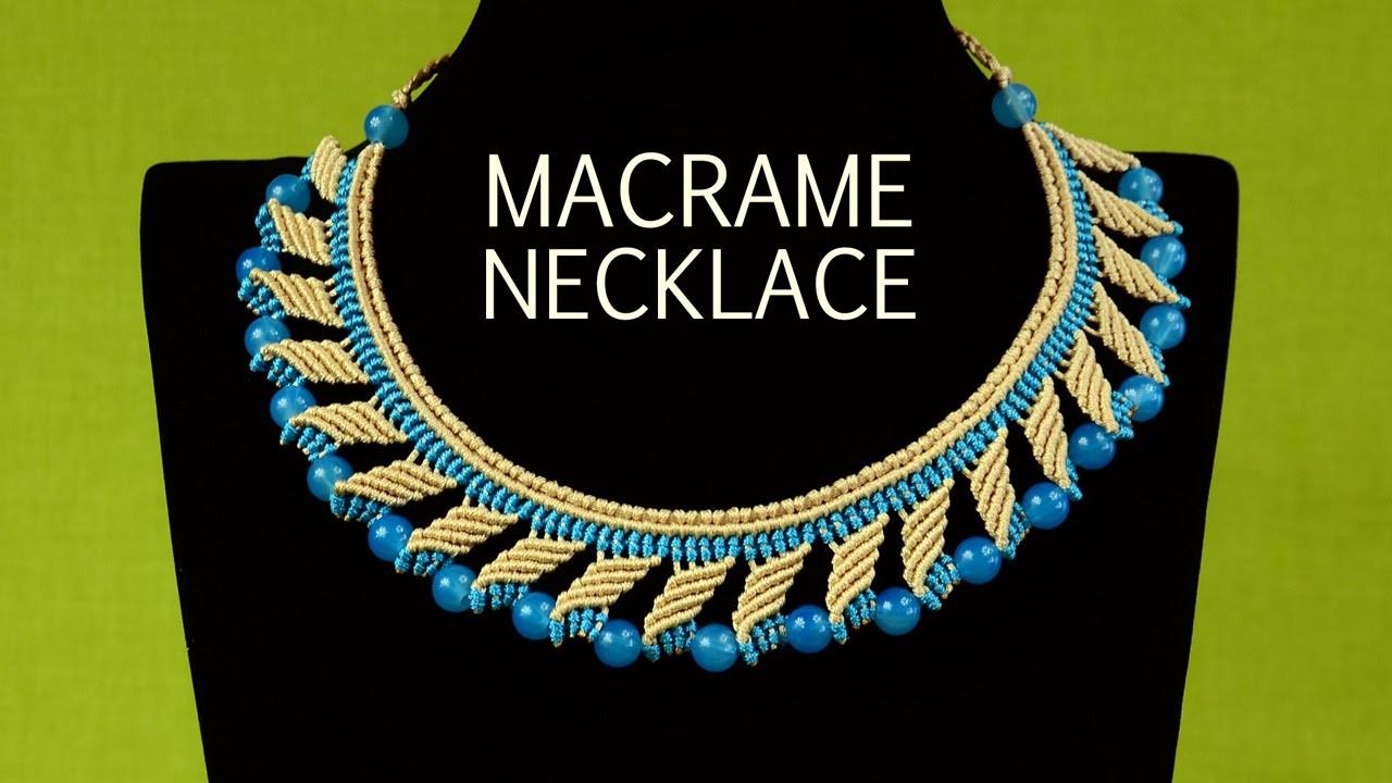 Nefertiti Macrame Necklace Tutorial