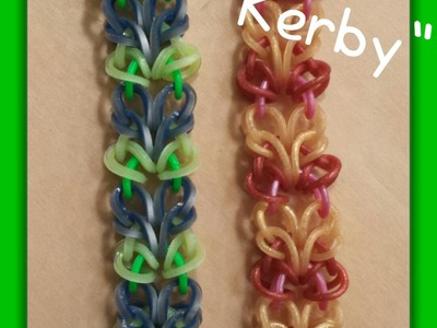 "New "" Kirby"" Rainbow Loom Bracelet.How To Tutorial"
