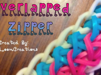 NEW Rainbow Loom Overlapped Zipper Bracelet | How To