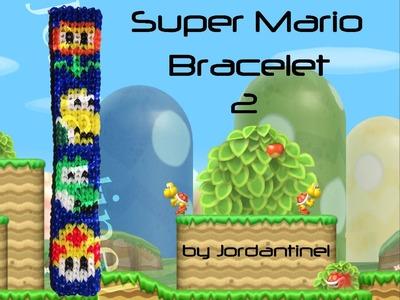 New Super Mario Bros Bracelet - Alpha Loom. Rainbow Loom - Fire Flower, Koopa, Yoshi, Mushroom