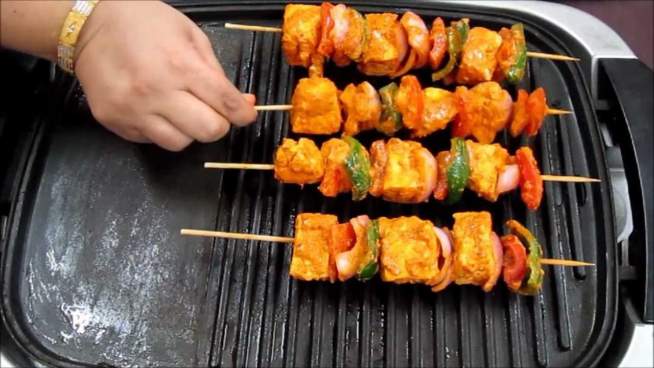 Paneer Tikka Recipe in Hindi with Captions in English