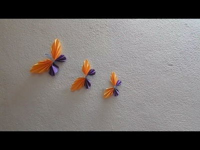 Papercraft Butterfly (easy) paper craft for children(kids) in school projects.